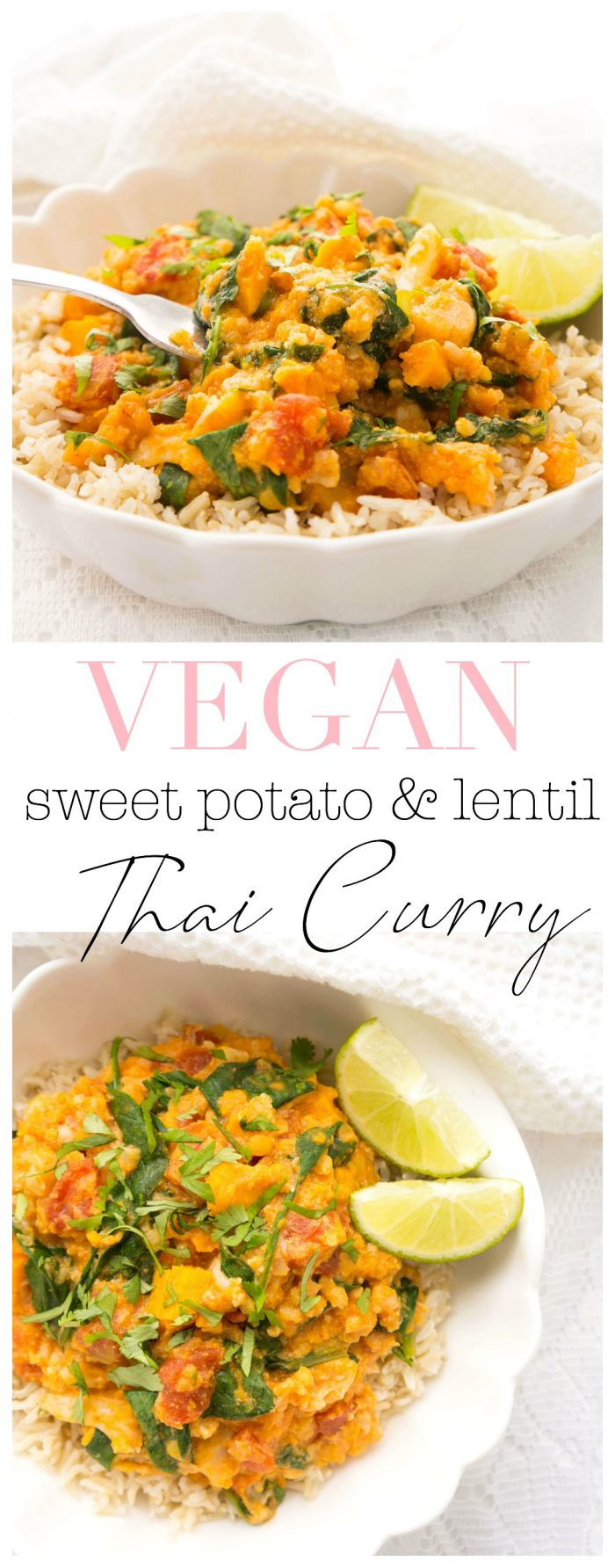 Instant Pot Lentil & Sweet Potato Thai Curry