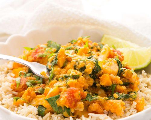 Instant Pot Lentil & Sweet Potato Thai Curry