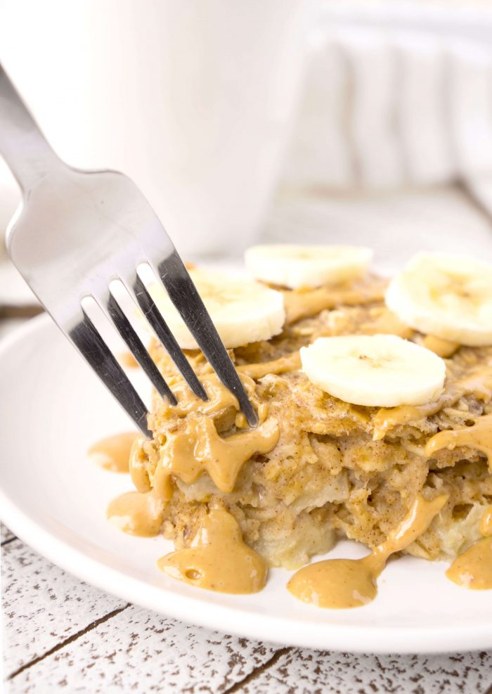 Slice of Peanut Butter Banana Baked Oatmeal