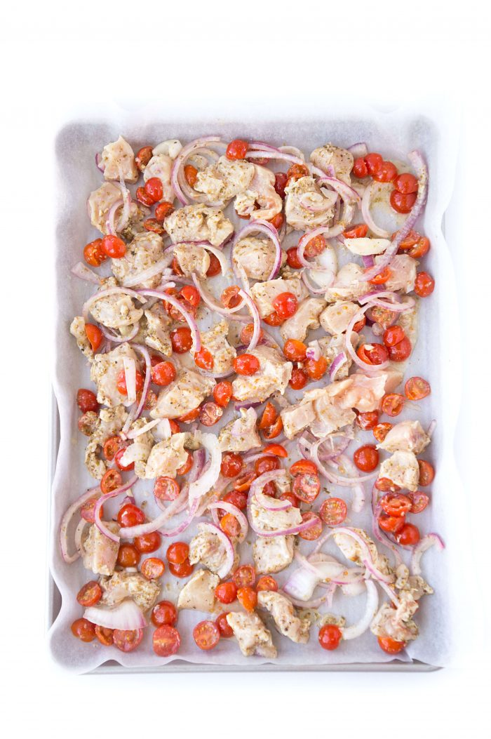 Sheet Pan Greek Chicken & Veggies