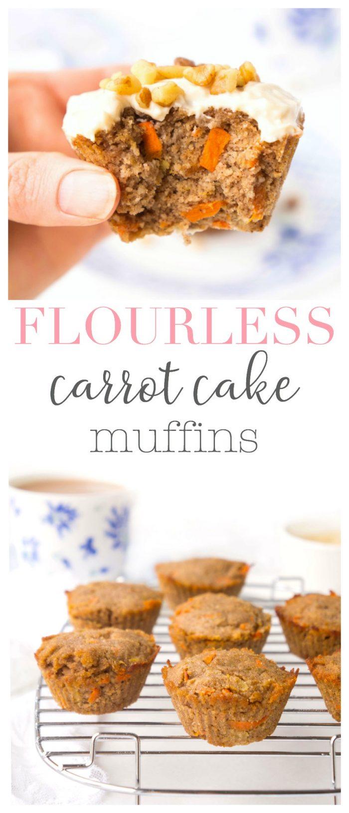 Flourless Carrot Cake Muffins