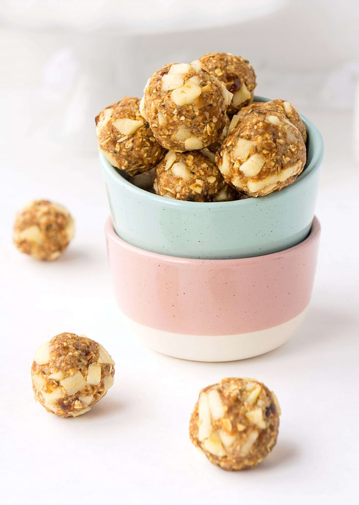 Nut-Free Apple Oat Energy Bites