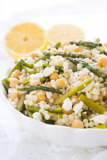Chickpea & Roasted Asparagus Couscous Salad