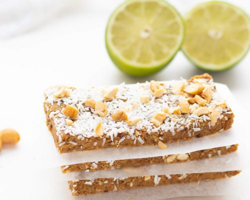 No-Bake Key Lime Protein Bars