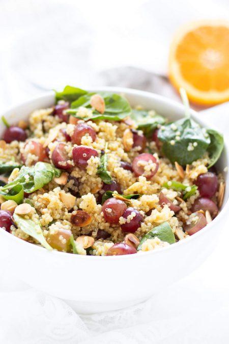 Toasted Almond, Grape & Quinoa Salad