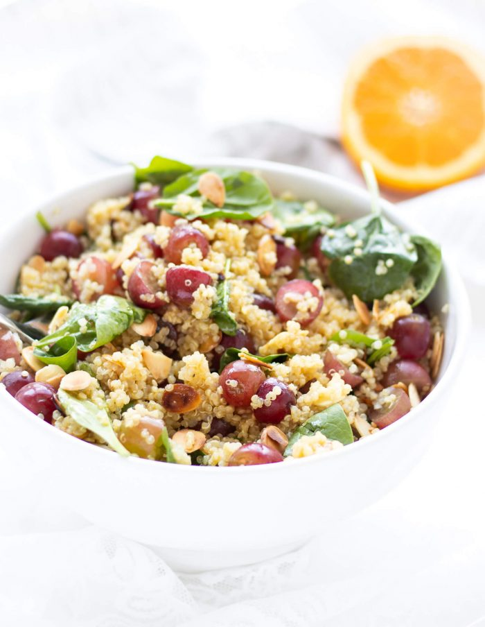 Toasted Almond, Grape & Quinoa Salad