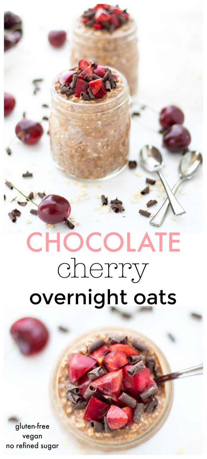 Chocolate Cherry Overnight Oats