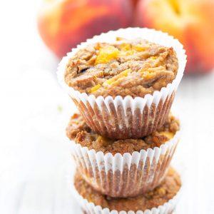Gluten-free Peach Vanilla Muffins