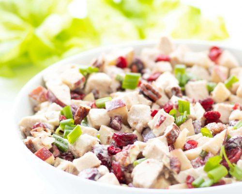 Mayo-free Cranberry Apple Chicken Salad