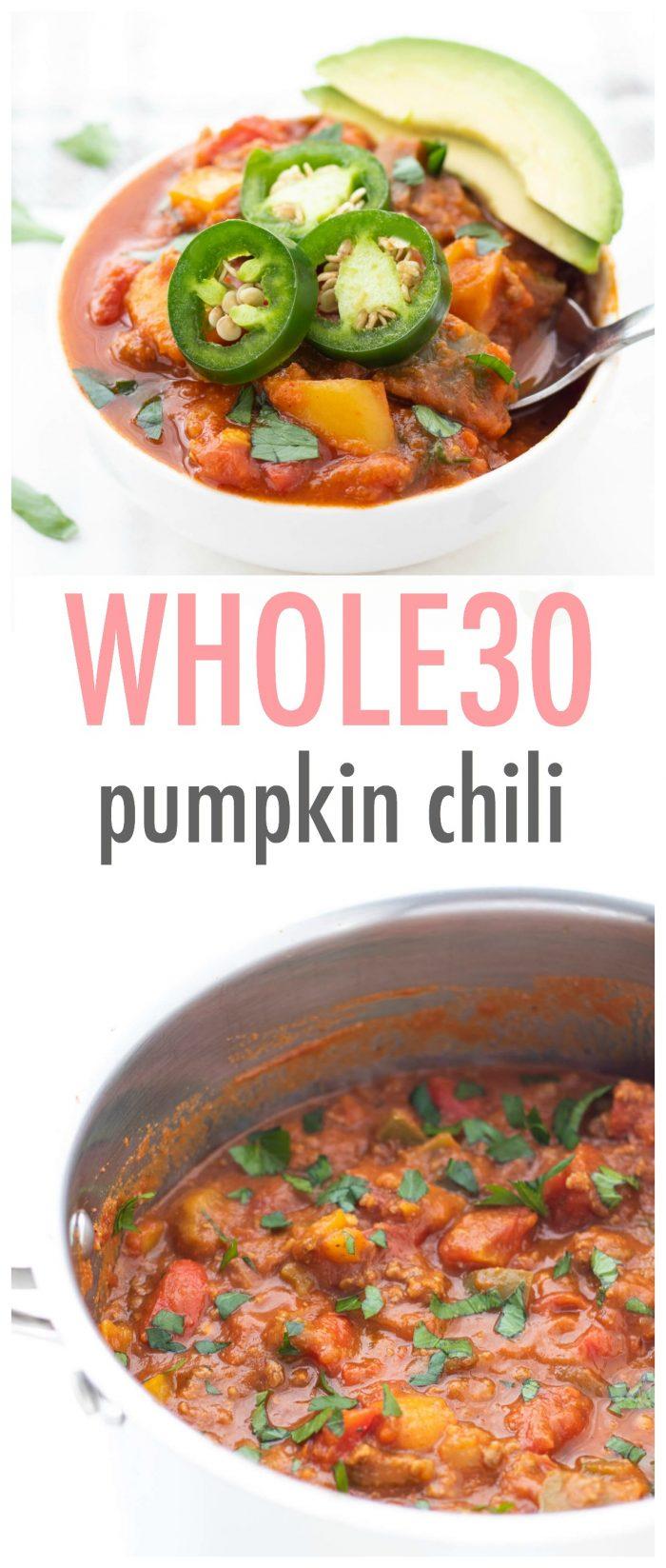 Whole30 Pumpkin Chili