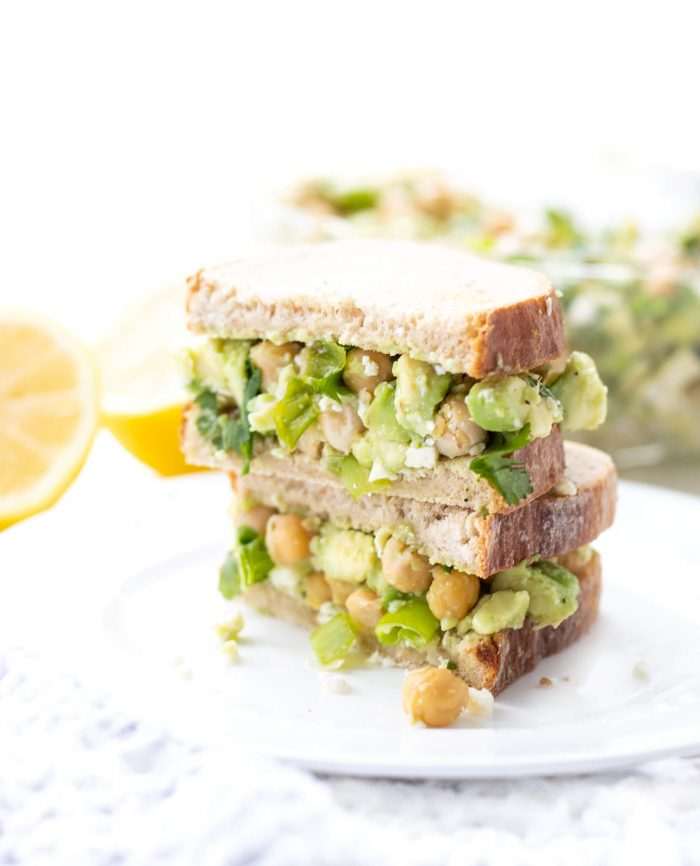Chickpea Avocado Feta Salad