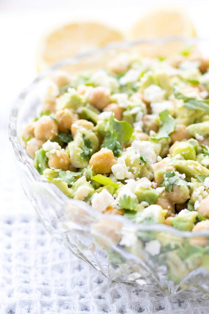 Chickpea Avocado Feta Salad