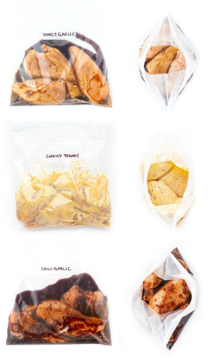 Chicken marinades in ziplock bag