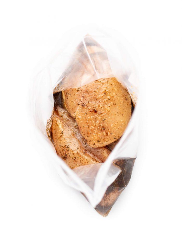 Jerk chicken marinade in ziplock bag