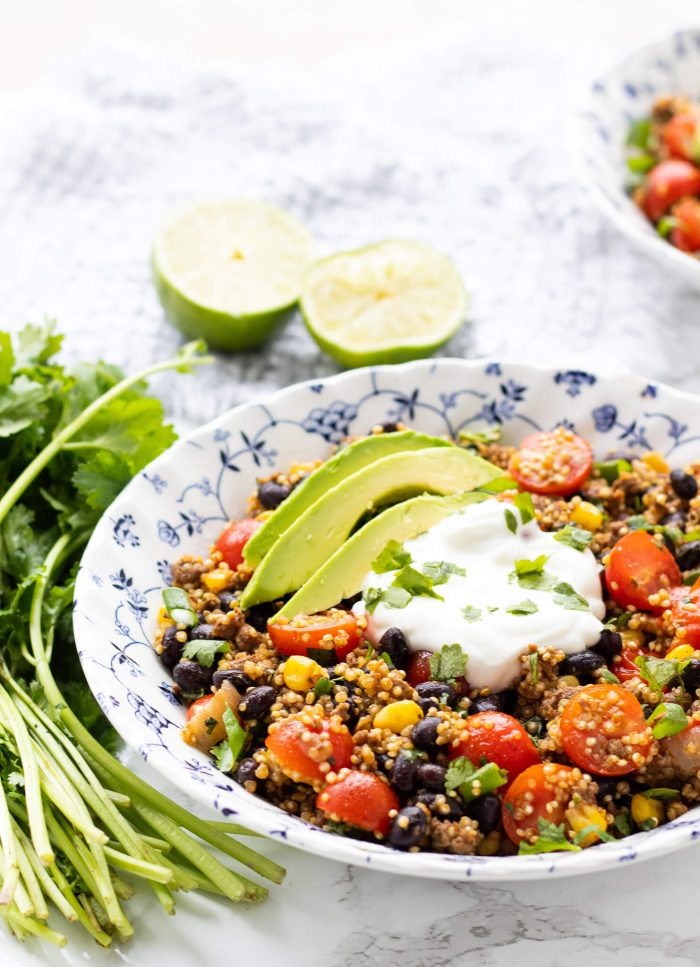 Tex-Mex Quinoa Taco Bowls