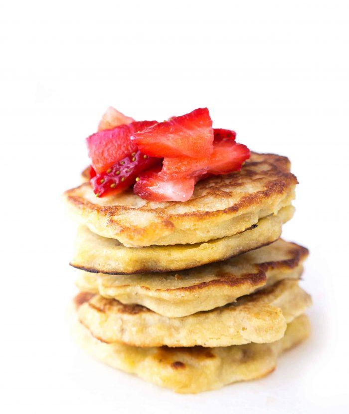 stack of mini pancakes