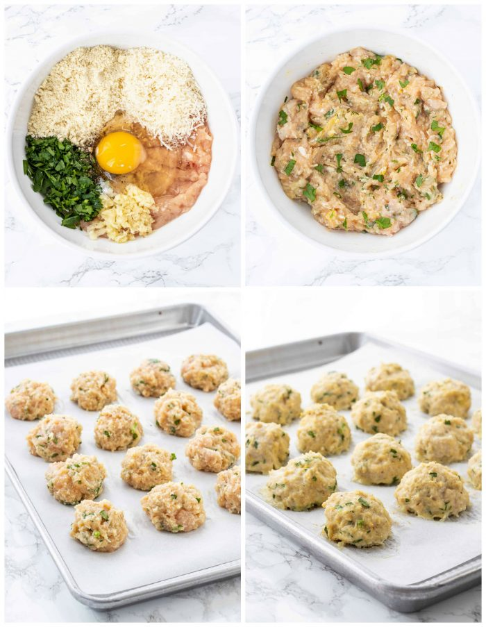collage how to make meatballs