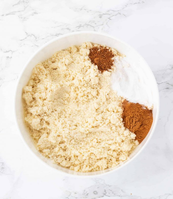 dry ingredients for muffins in bowl