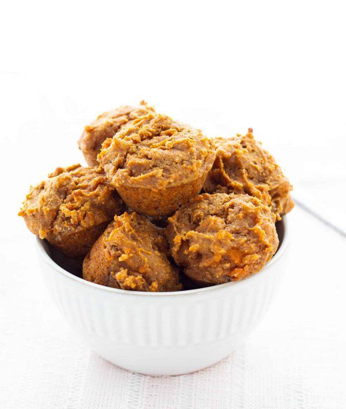 mini muffins in bowl