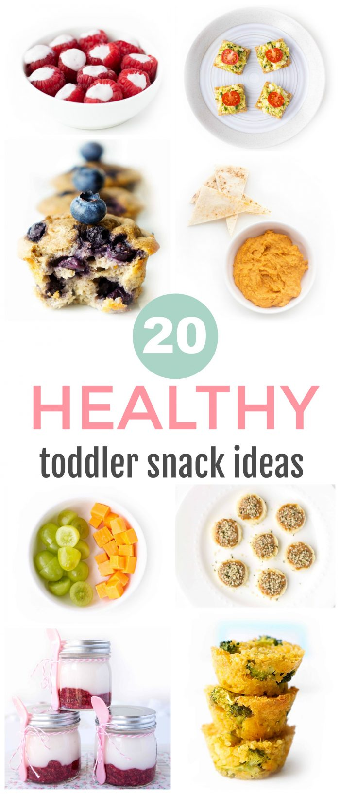 Looking for some healthy snack inspiration for little ones? Here we've got a variety of balanced healthy toddler snacks that are fun and easy to prepare. Many are make-ahead options as well so perfect for taking on the go!