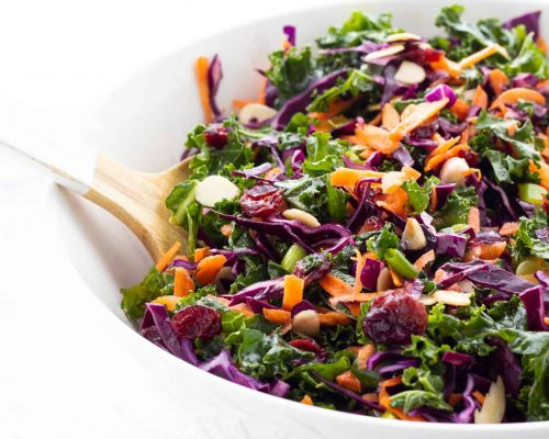 kale salad in a large bowl