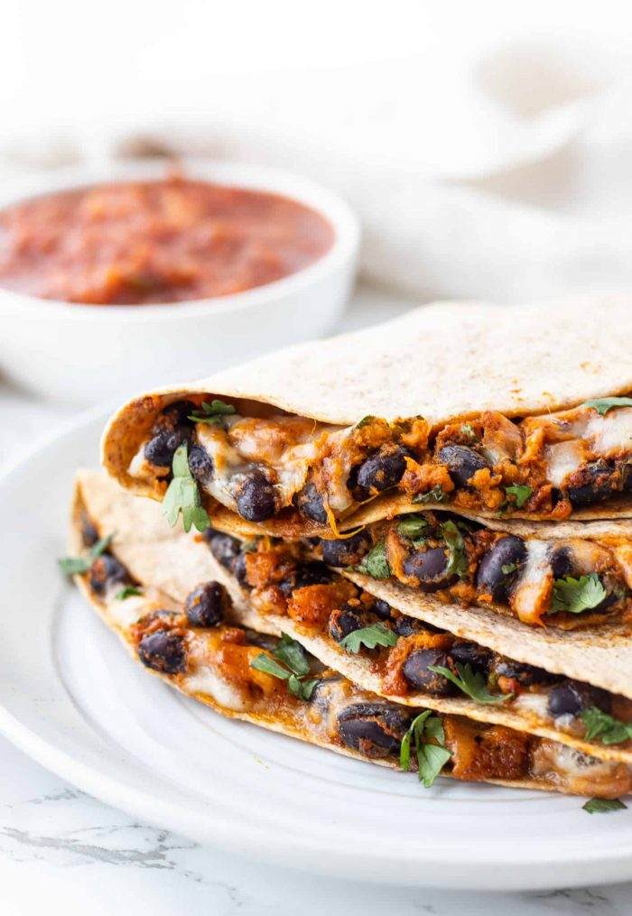Vegetarian Quesadillas Haute Healthy Living