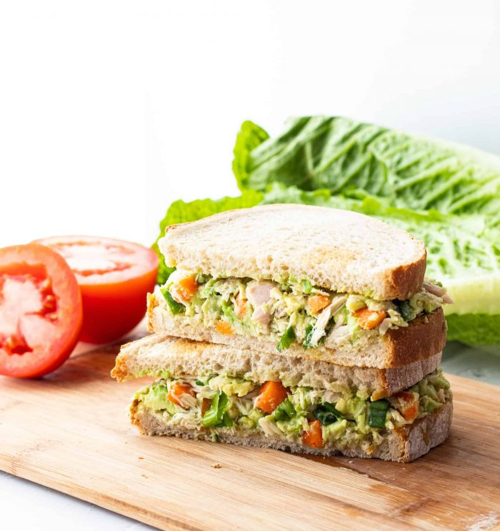 tuna salad on a sandwich