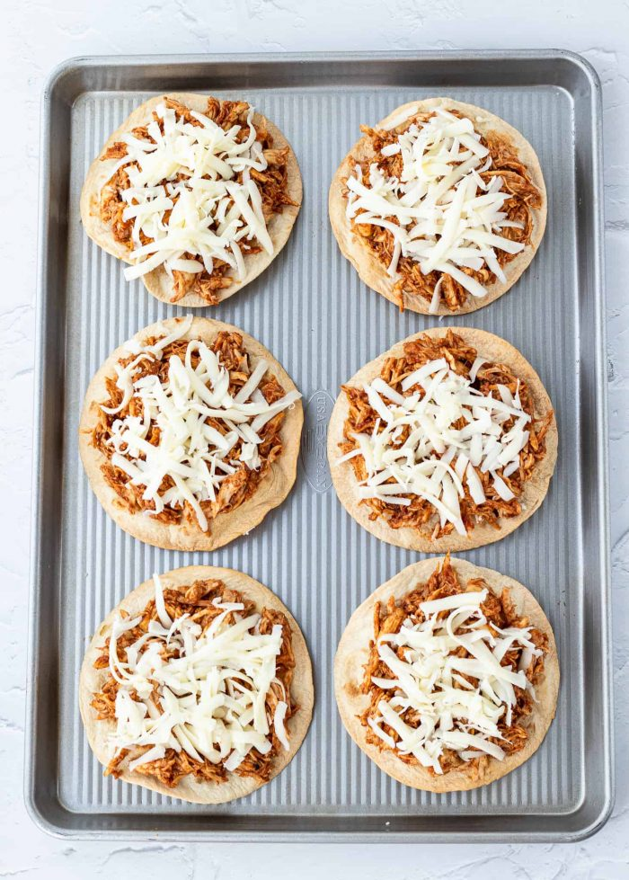 chicken on tortillas with cheese