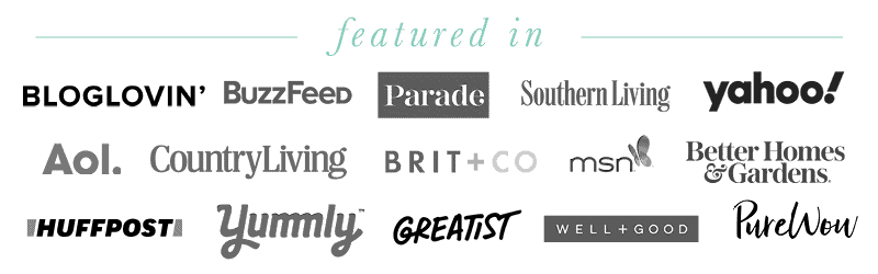 Collage of logos where Haute and Healthy Living has been featured in