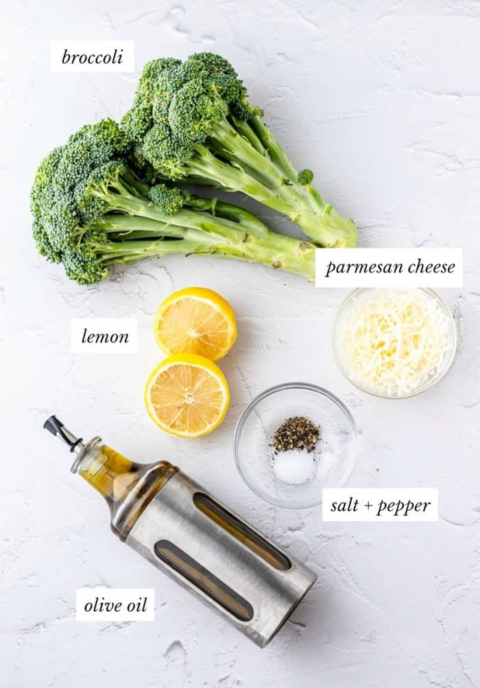 Ingredients on a white work top