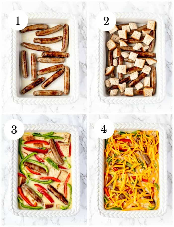 Four step by step photos to show how to make the recipe.