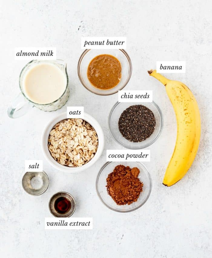 ingredients required for overnight oats with labels