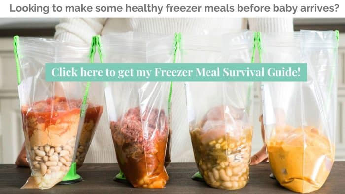 Four Healthy Freezer Crockpot Meals in freezer bags