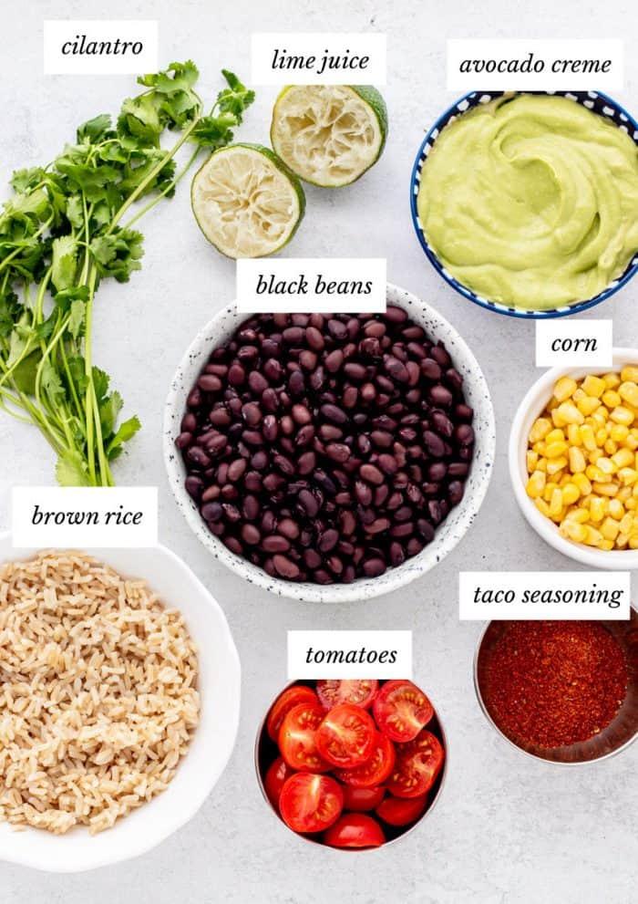 Ingredients to make the recipe.