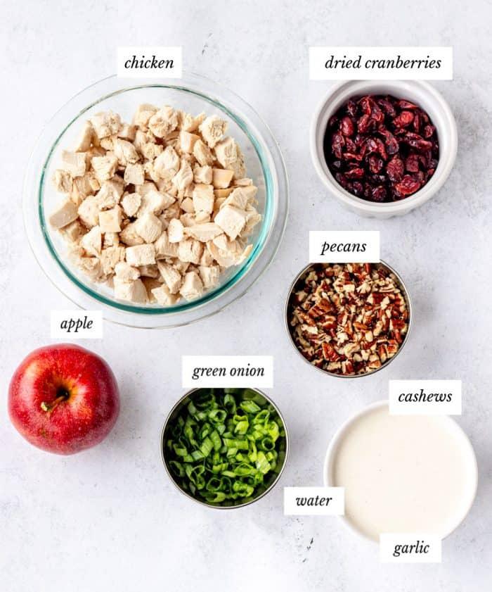 Ingredients to make the salad.