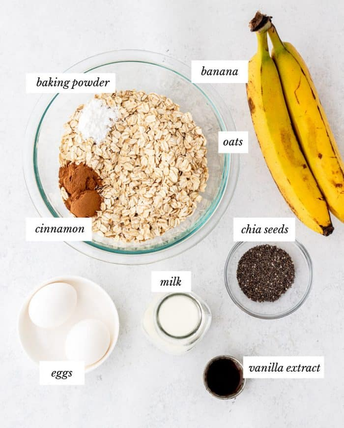 Ingredients to make the recipe on a white surface.
