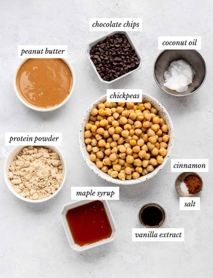 Ingredients to make the cookie dough recipe.